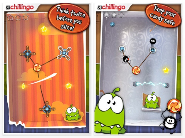 Cut the Rope gioco iphone 2
