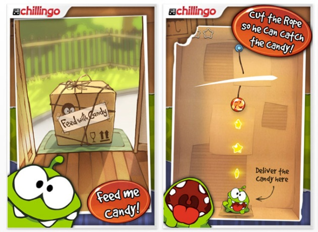 Cut the Rope gioco iphone